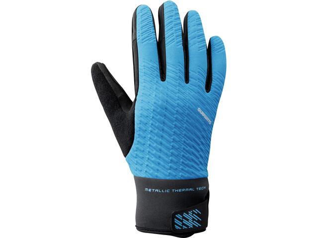 Shimano Windbreak Thermische Reflecterende Handschoenen Heren, blue